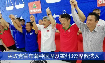 民政党宣布蒲种国席及雪州3议席候选人