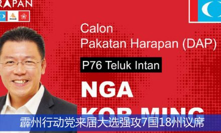 霹州行动党来届大选强攻7国18州议席