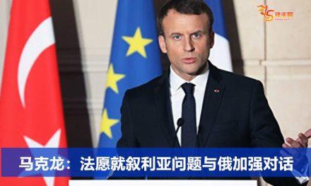 马克龙:法愿就叙利亚问题与俄加强对话