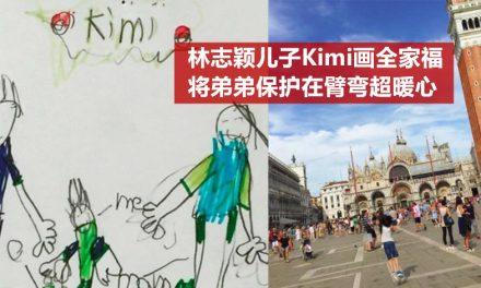 林志颖儿子Kimi画全家福 将弟弟保护在臂弯超暖心