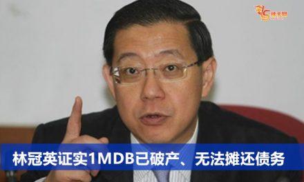 林冠英证实1MDB已破产、无法摊还债务