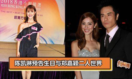 陈凯琳预告生日与郑嘉颖二人世界