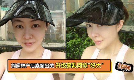 """熊黛林产后素颜出关 升级豪乳网惊""""好大"""""""