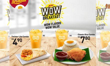 肯德基最新早餐配套 只需RM4.90