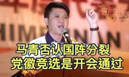 马华首次使用党徽竞选 马青否认成员党分裂