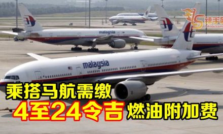 马航来往大马航班需缴燃油附加费