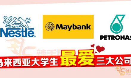 马来西亚大学生票选最想去的公司