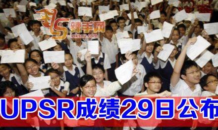 UPSR成绩29日放榜
