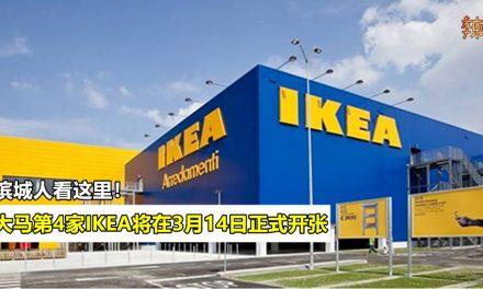 大马第4家IKEA将在3月14日正式开张