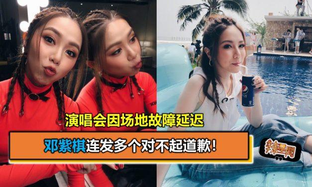 演唱会因场地故障延迟 邓紫棋连发多个对不起道歉!